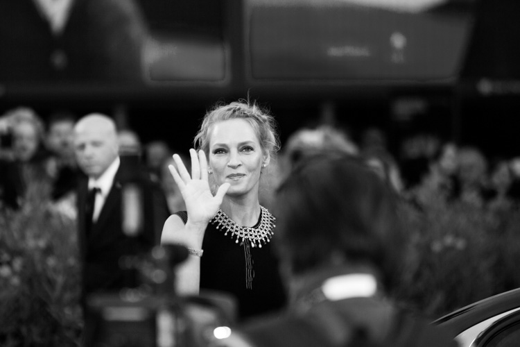 uma thurman arriva al red carpet - 1 settembre 2014